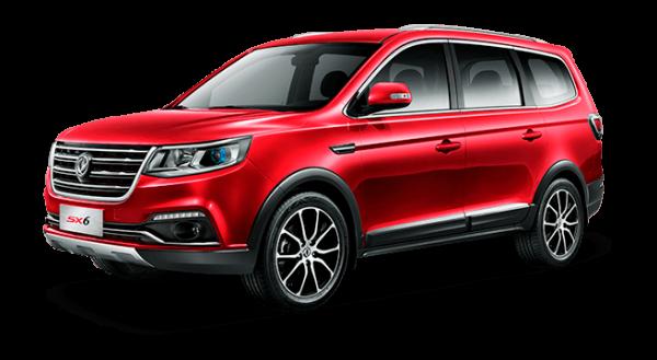 dongfeng SX6 SUV, motor Mitsubishi 1.6L/5MT, 7 asientos.