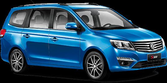 dongfeng s500, motor Mitsubishi 1.5T / 5MT, 7 asientos
