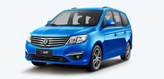 Dongfeng s500, motor Mitsubishi 1.5T / 5MT, 7 asientos.