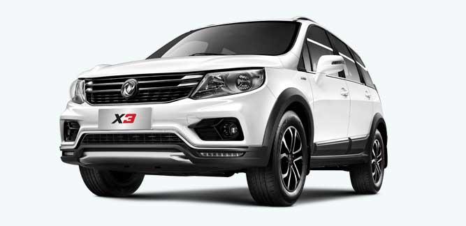 Dongfeng X3 SUV, motor Mitsubishi 1.6L/5MT., 5 asientos, 5 años de garantía o 120 000 km.